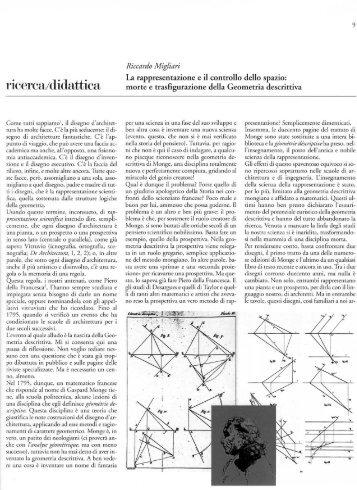 ricer iii/didattici - Riccardo Migliari