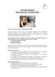 INTERNSHIP PROGRAM OVERVIEW - Auslandserfahrungen.de