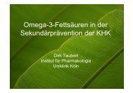Omega-3-Fettsäuren in der Sekundärprävention der KHK - DGEM