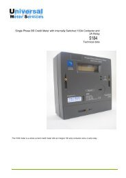 ampy 5184 multi rate pdf - Universal meter services