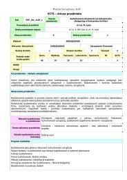 Prowadzący przedmiot - Wydział Zarządzania - AGH