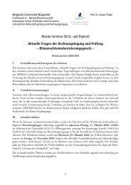 Informationen zum Seminar - Prof. Dr. Stefan Thiele - Bergische ...