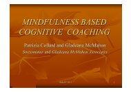 MINDFULNESS BASED COGNITIVE COACHING - Mindfulnet