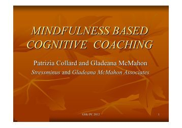 mindfulness based cognitive therapy Mindfulness-based cognitive therapy (mbct) is a psychological therapy designed to aid in preventing the relapse of depression, specifically in individuals with major depressive disorder (mdd) it uses traditional cognitive behavioral therapy (cbt) methods and adds in newer psychological strategies such as mindfulness and mindfulness meditation.