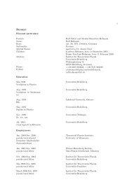 pdf-file - Institut für Theoretische Physik  der Universität - Universität ...