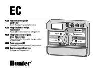 Residential Irrigation Controller Programador de ... - Hunter Industries
