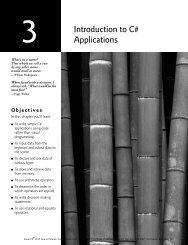 Introduction to C# Applications - Pearson Learning Solutions