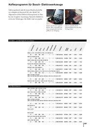 Kofferprogramm für Bosch- Elektrowerkzeuge