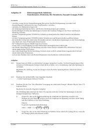 Aufgaben 14 Elektromagnetische Induktion ... - Thomas Borer