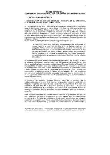 1 marco referencial licenciatura en educación básica con énfasis en ...