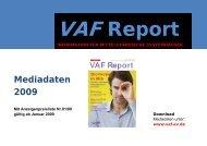 Mediadaten 2009 - VAF - Bundesverband Telekommunikation eV