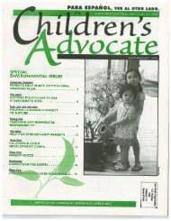 special environmental issue! - Action Alliance for Children