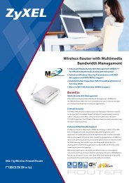 Wireless Router with Multimedia Bandwidth Management