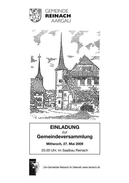 EINLADUNG Gemeindeversammlung GEMEINDE REINACH ...
