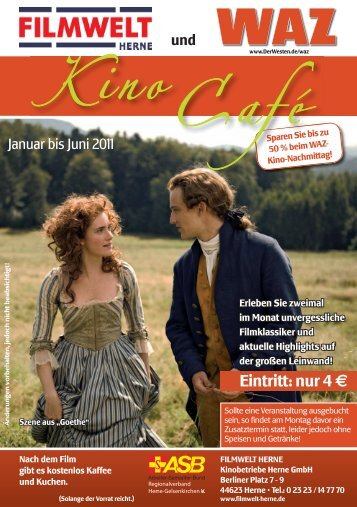 Kinocafeprogramm Januar bis Juni 2011