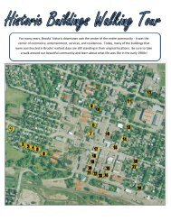 For many years, Brooks' historic downtown was the ... - City of Brooks