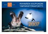 Riihimäen kaupungin ympäristöraportti 2007 - Riihimäki