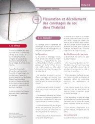 Fiche pathologie bâtiment » F.2 Fissuration et décollement des ...