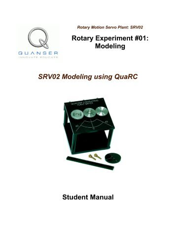 Quanser Rotary Experiment #01: Modeling Student Manual