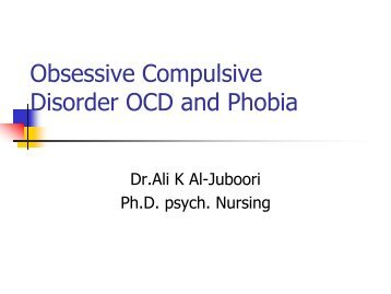 an introduction to the issue of obsessive compulsive disorder Introduction obsessive compulsive disorder begin your paper with obsessive compulsive eating disorder you may feel that this is just a personal issue.