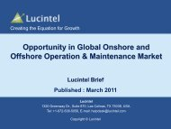 Opportunities in Global Onshore and Offshore Operations ... - Lucintel
