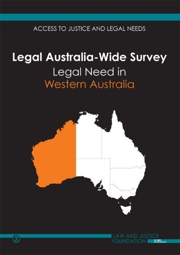 LAW Survey Western Australia full report - Law and Justice Foundation