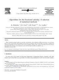 Algorithms for the fractional calculus - Beuth Hochschule für Technik ...