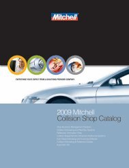 2009 Mitchell Collision Shop Catalog - Mitchell International