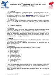 règlement complet - Aquathlon de Rillieux