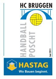 Handball Poscht Ausgabe 06/11 - HC Bruggen