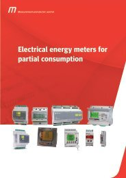 Electrical energy meters for partial consumption - Metartec