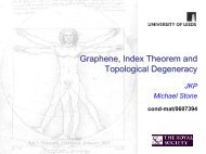 Graphene, Index Theorem and Topological Degeneracy