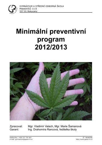 Minimální preventivní program 2012/2013 - Gymnázium a Střední ...