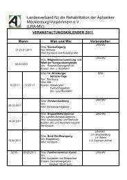 LRA-MV - Landesverband für die Rehabilitation der Aphasiker in MV