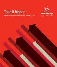 HE Brochure - Trafford College