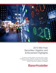 2013 Mid-Year Securities Litigation and Enforcement Highlights