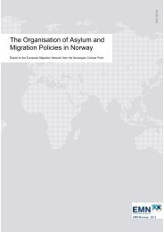The Organisation of Asylum and Migration Policies in Norway - UDI