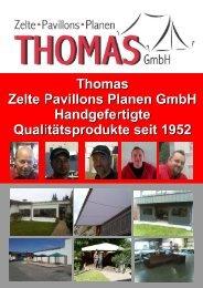haben wir für Sie eine Zusammenstellung unserer - Thomas Zelte ...