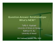 Question-Answer Relationships: What's NEW?