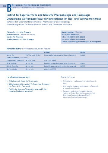 Forschungsbericht - Institut für Pharmakologie und Toxikologie
