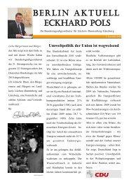 Newsletter 12/2010 des MdB Eckhard Pols