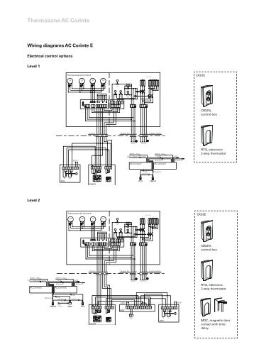THERMOZONE AC 400/ WAC 400 WIRING DIAGRAMS AC401 AND