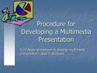 Create Presentations using Multimedia Software