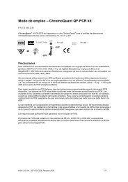 Modo de empleo – ChromoQuant QF-PCR kit - CyberGene AB