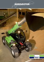 Prospekt vom Agrovector - Deutz-Fahr