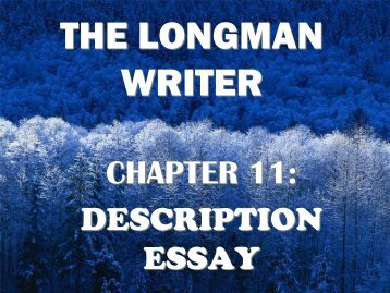 Description Essay Longman Writer
