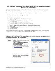 Dell Wireless Card Configuration