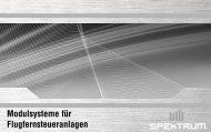 Modulsysteme für Flugfernsteueranlagen - three-c