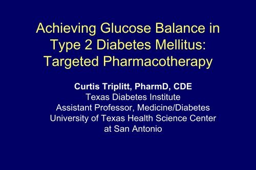 Achieving Glucose Balance in Type 2 Diabetes - Pharmacy Times