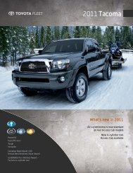What's New In 2011 - Toyota Canada